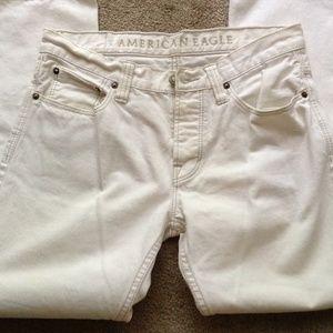 American Eagle cream color jeans